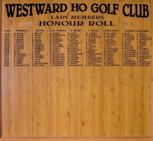Lady Honour Roll 99 – present