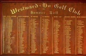 Westward Ho Honour Roll 57-90