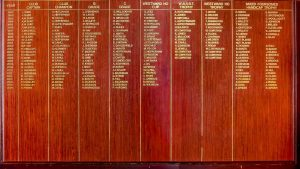 Westward Ho Honour Roll 91 – present